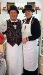 Howard and Pam at Howards New Butchers Shop at 16 Drapers Lane, Leominster